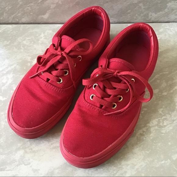Vans Shoes - Vans Era Gold Mono Crimson